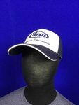 Hat White/Navy, 3D Logo, Mesh Back, Hook/Loop strap